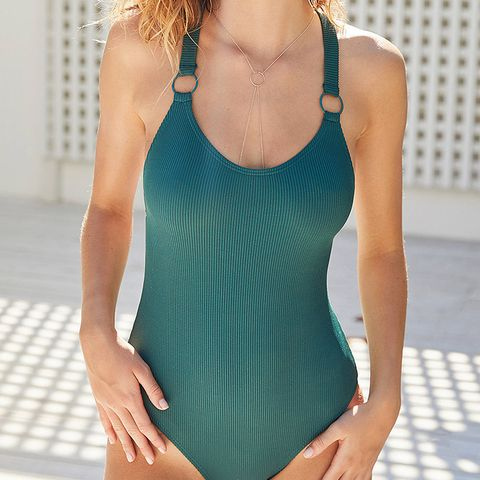 Cutout Ring One-Piece Swimsuit