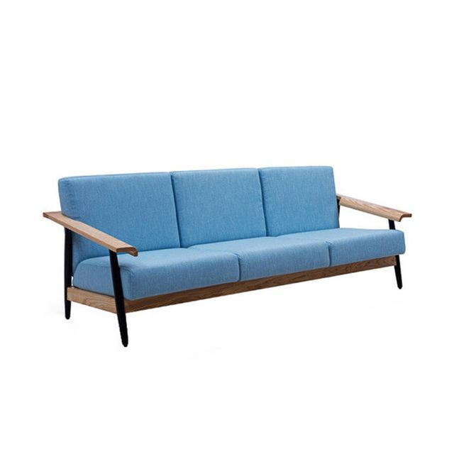 Milan Direct Blue Elsa Scandinavian Sofa