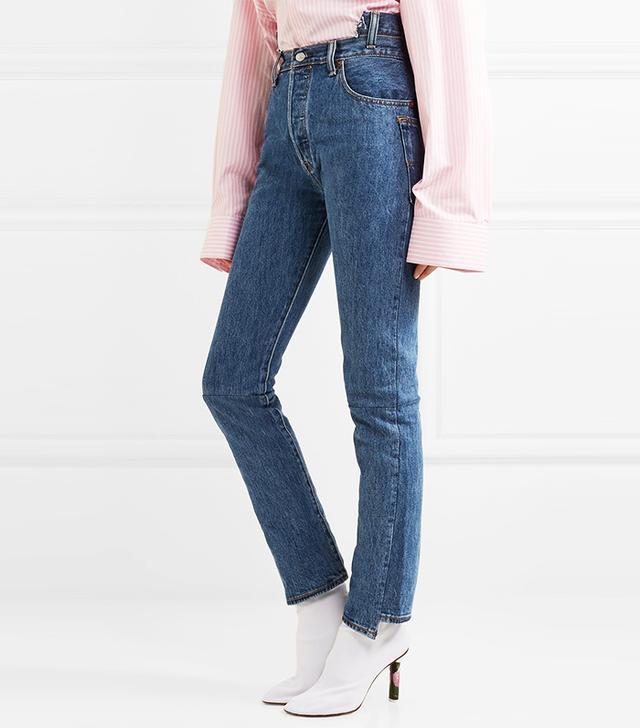 Levis High-rise Slim-leg Jeans