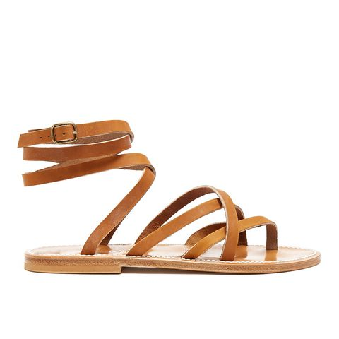 Zenobie Wraparound Leather Sandals