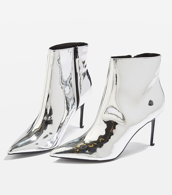 MIMOSA Metallic Ankle Boots
