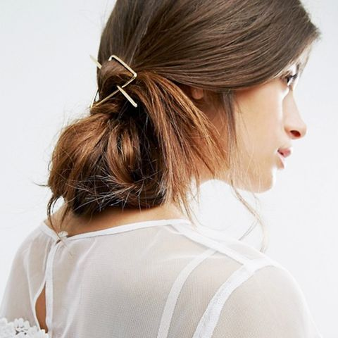 Star Triangle Through Hair Clip