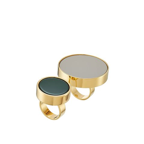 Gold-Tone Rings