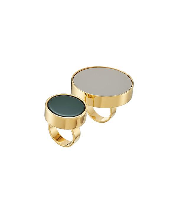 Gold-Tone Rings