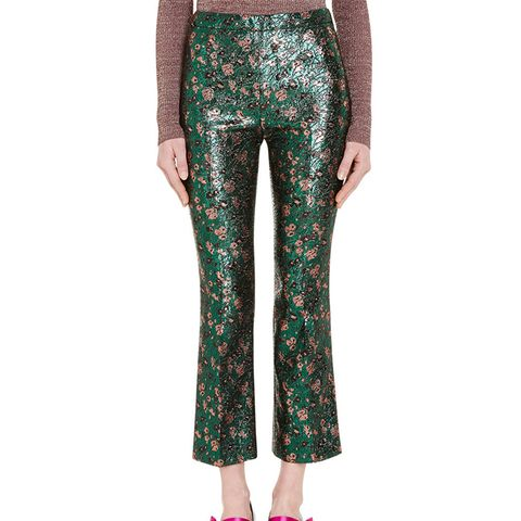 Brocade Cropped Trousers