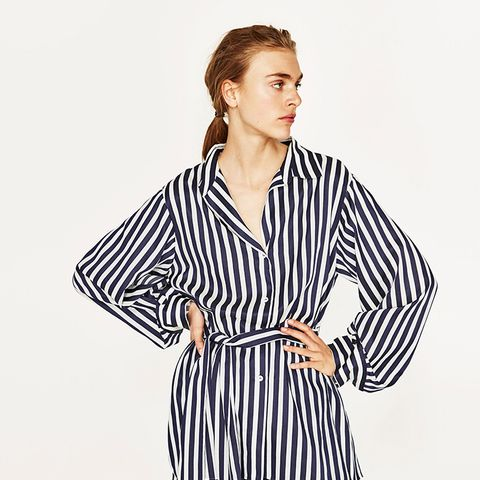 Striped Tunic With Sash Belt