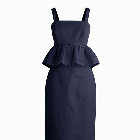 Peplum Dress in Classic Faille