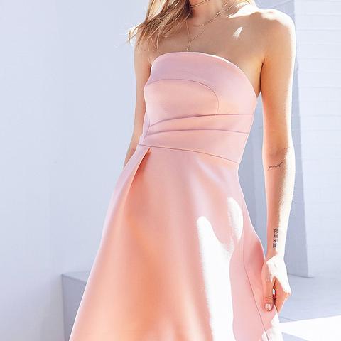 Asymmetrical Hem Mini Dress