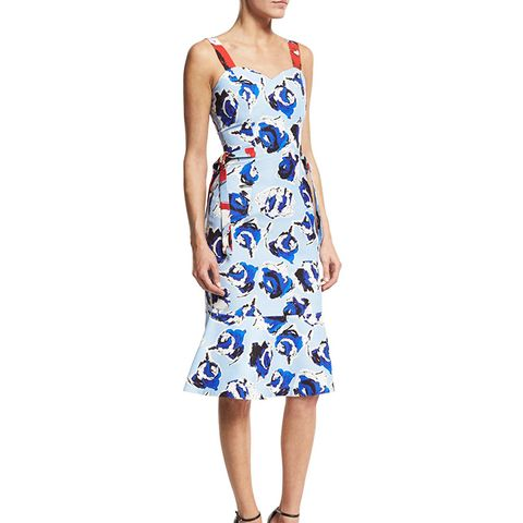 Ailey Sleeveless Floral Fit-and-Flare Dress
