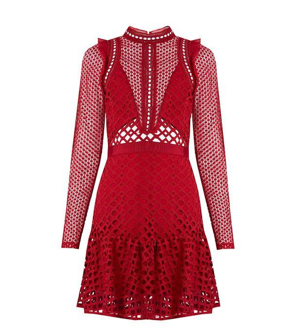Hall lace mini dress
