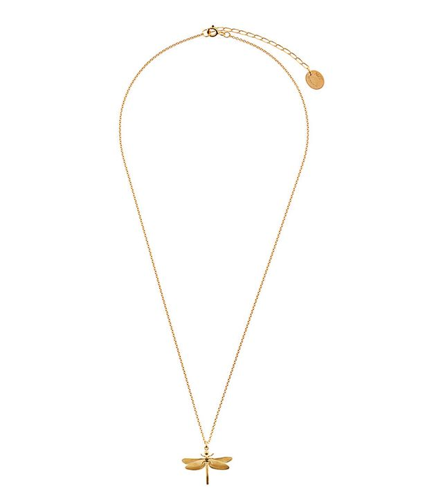 Alex Monroe Gold Vermeil Classic Dragonfly Necklace