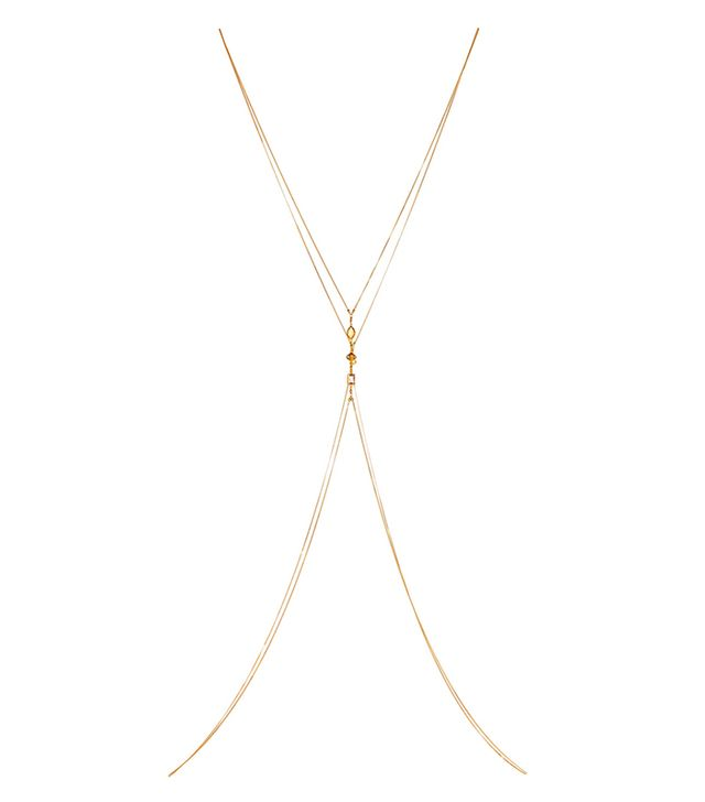 Gold-plated Multi-stone Body Chain