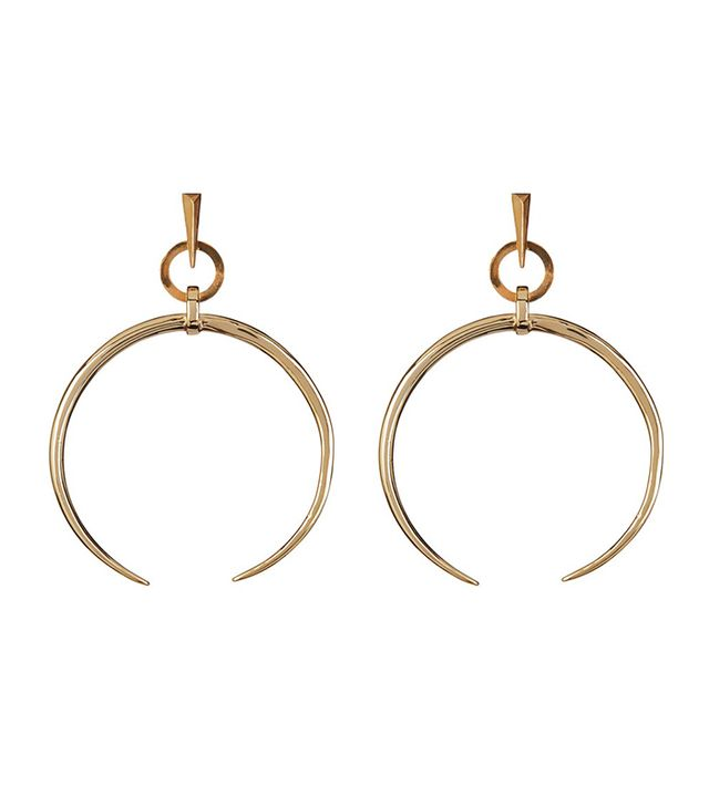 Luv AJ Oversized Crescent Hoops