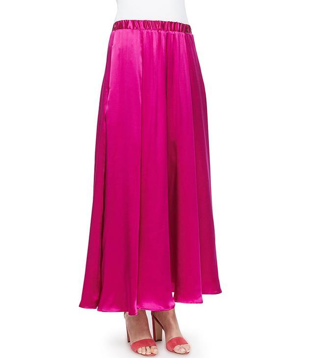 Silk Pull-On Maxi Skirt