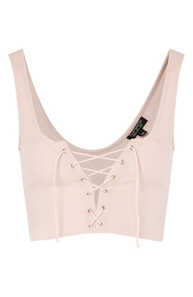 Topshop Lace-Up Bralette