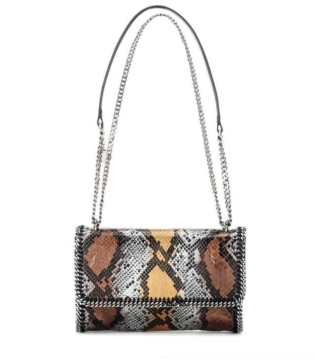 Stella McCartney Falabella Faux Snakeskin Shoulder Bag