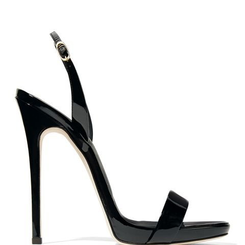 Sophie Patent-Leather Slingback Sandals