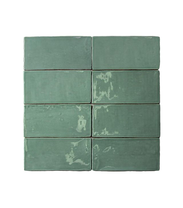 Splashback Tile Catalina Green Lake Ceramic Wall Subway Tile