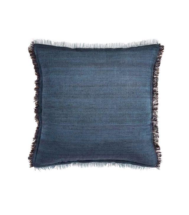 West Elm Textured Silk Fringe Pillow Cover