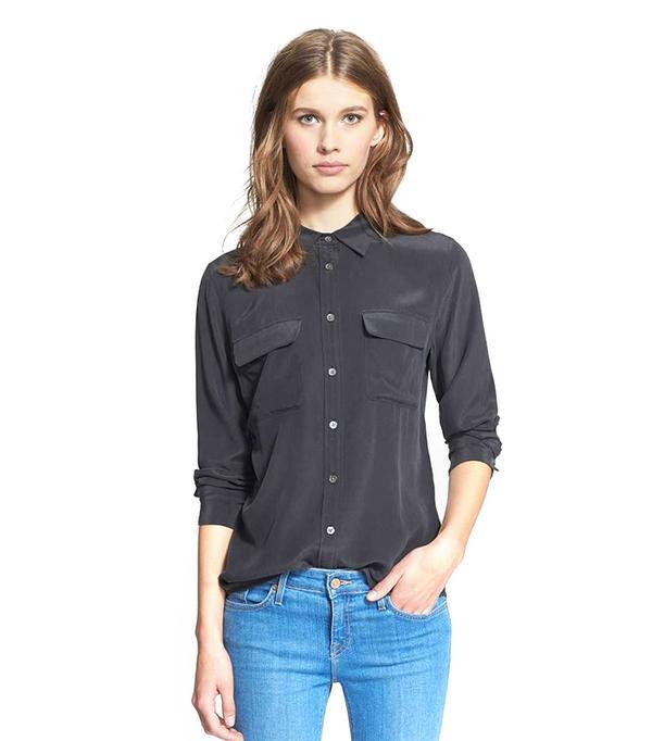 'Slim Signature' Silk Shirt