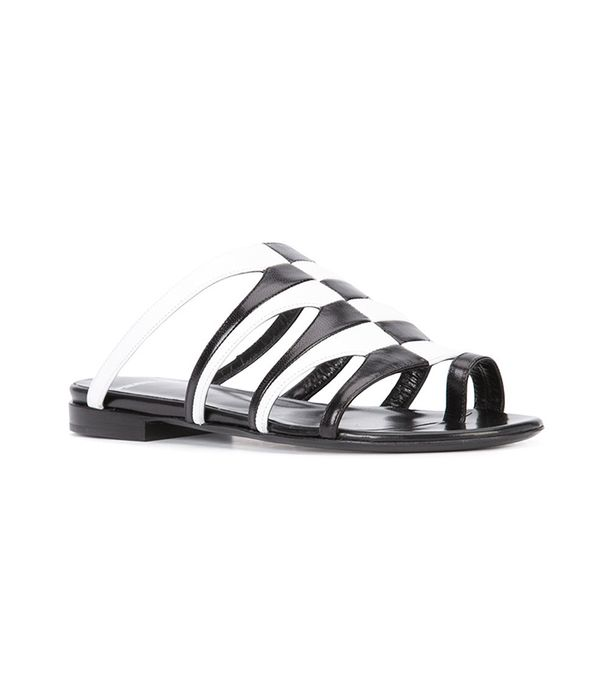 bicolour sandals