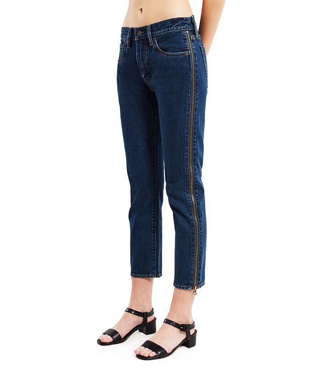 Levi's 505C Cropped Zip Jeans