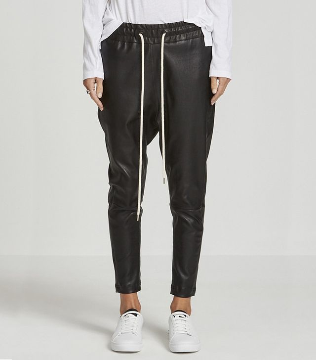 Bassike Leather Tapered Pant