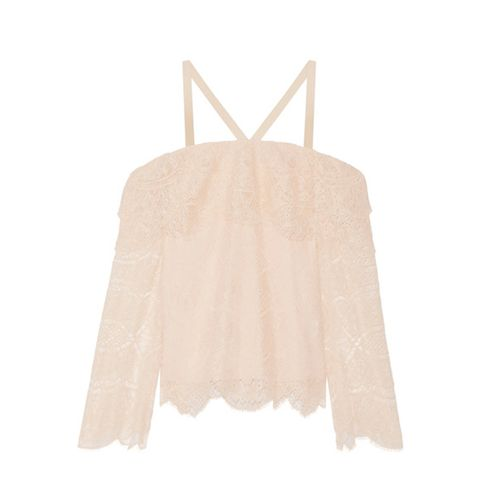 Off-the-Shoulder Corded Lace Top