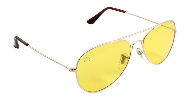 Rainbow Optx Yellow Lens/Aviator Frame Glasses