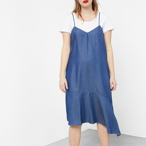 Frills Denim Dress