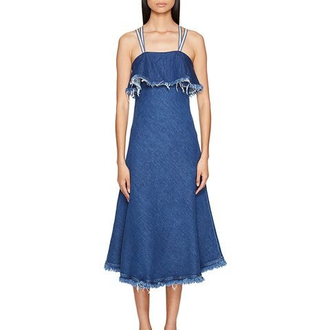 Dorina Long Sleeveless Denim Dress