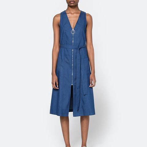 O-Ring Denim Dress