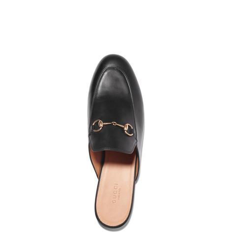 Horsebit-detailed Leather Slippers