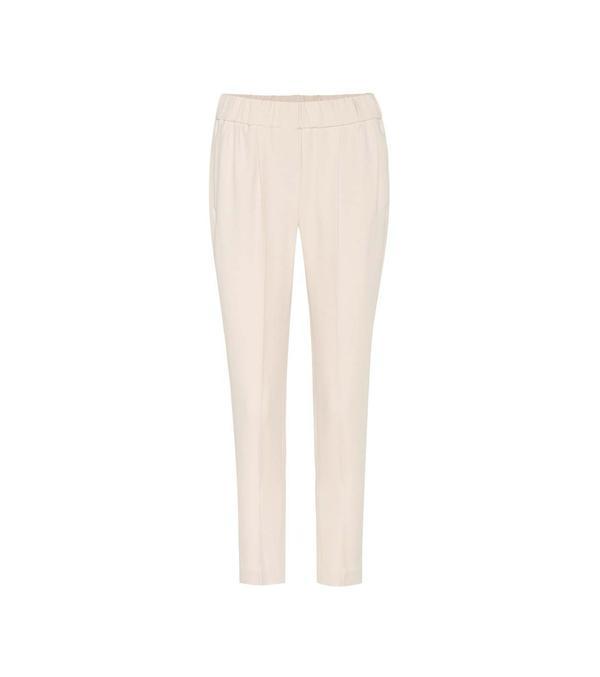 Silk-blend trousers