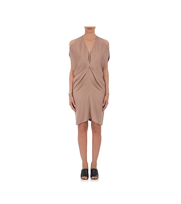 Women's Miu Twill Draped Dress