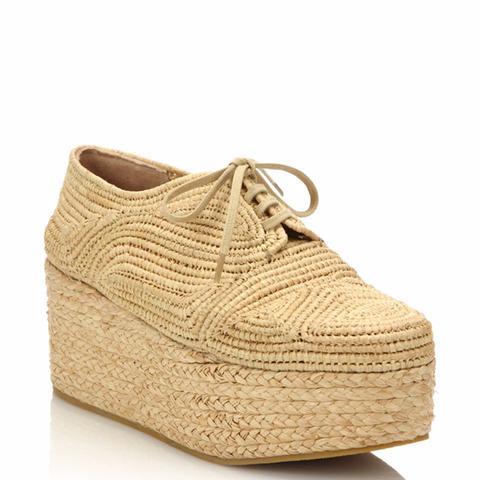 Pinto Raffia Espadrille Platform Sneakers