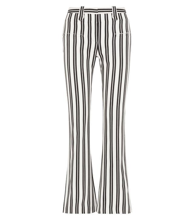 Serge Striped Wool-blend Flared Pants