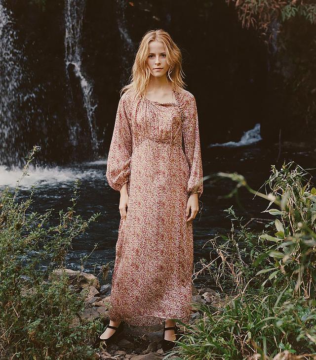 Dôen Bellflower Dress in Clay Floral