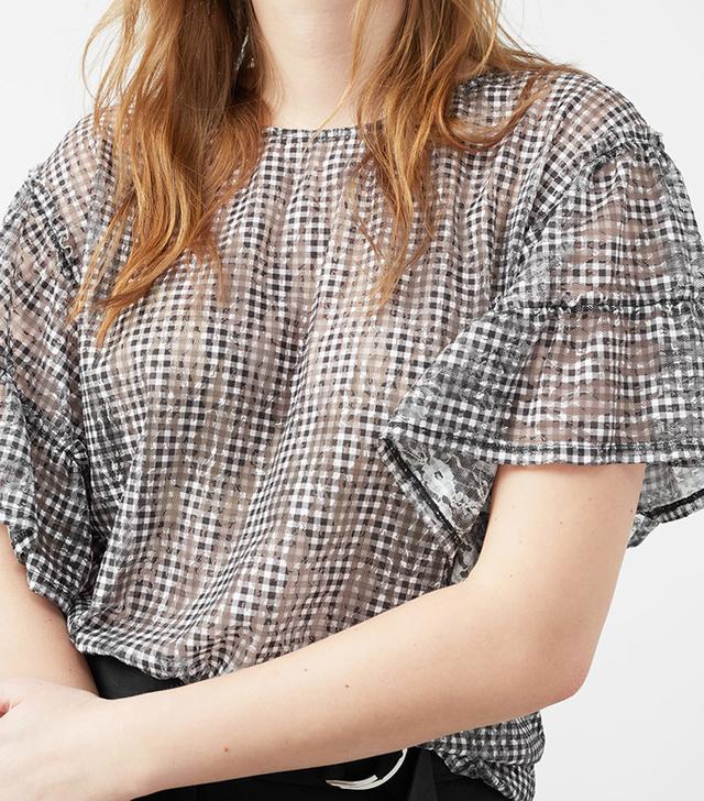 Ruffle vichy t-shirt