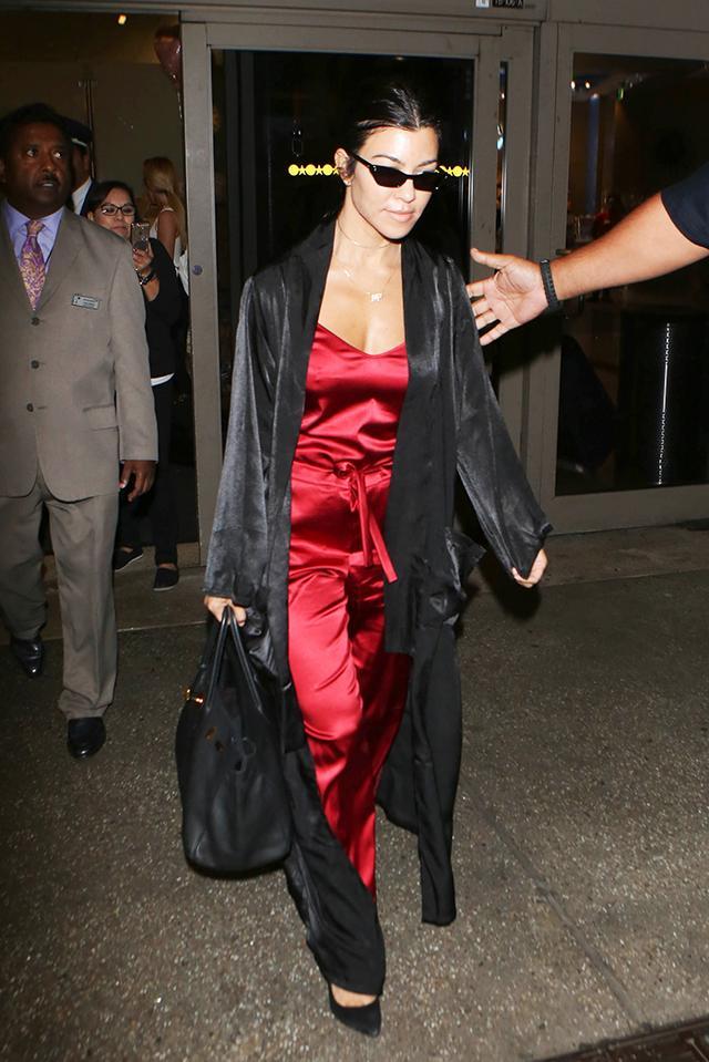 airport style kourney kardashian