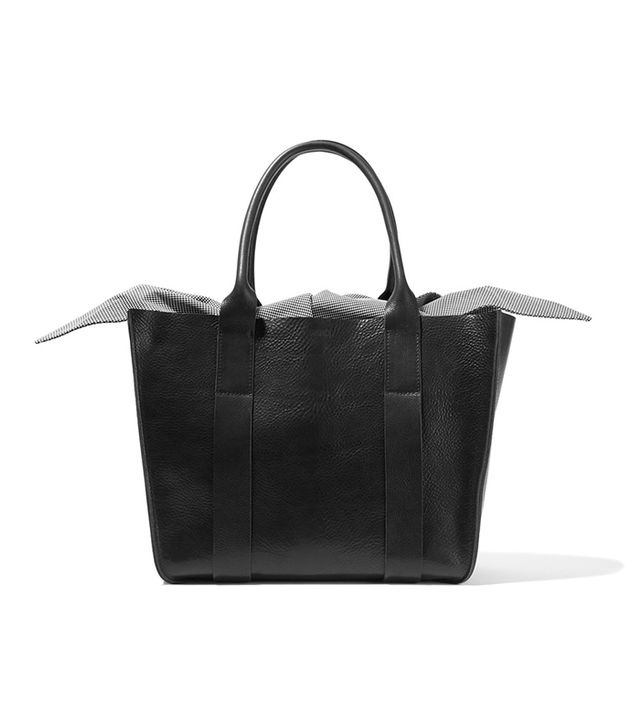 Gilbert Large Textured-leather And Printed Cotton-canvas Tote