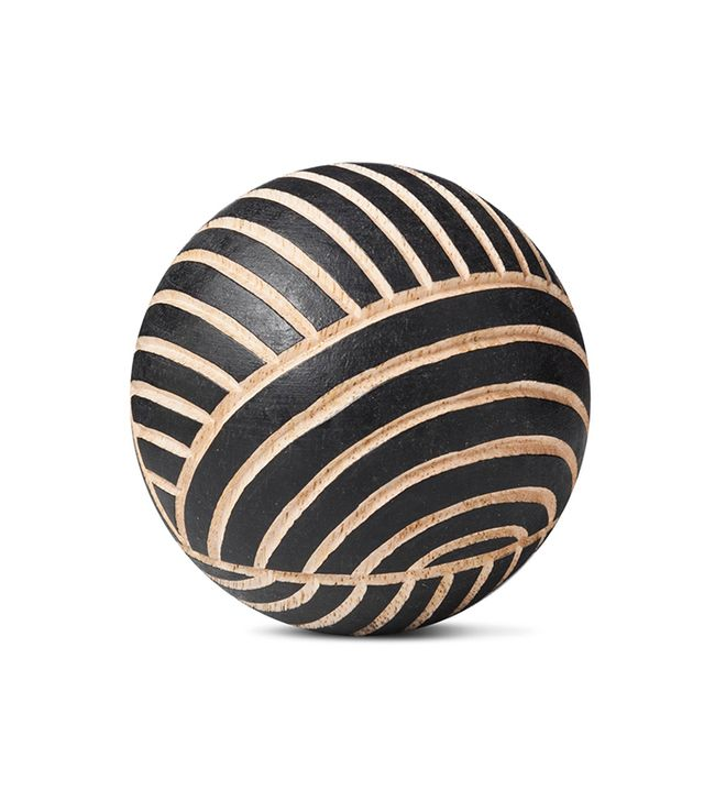 Target Carved Wood Ball