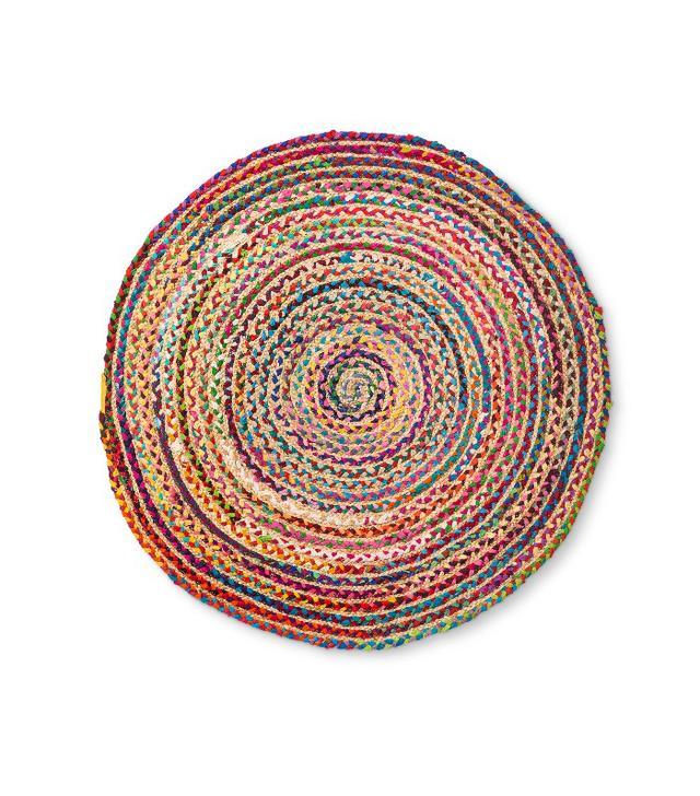 Target Stripe Braided Round Accent Rug