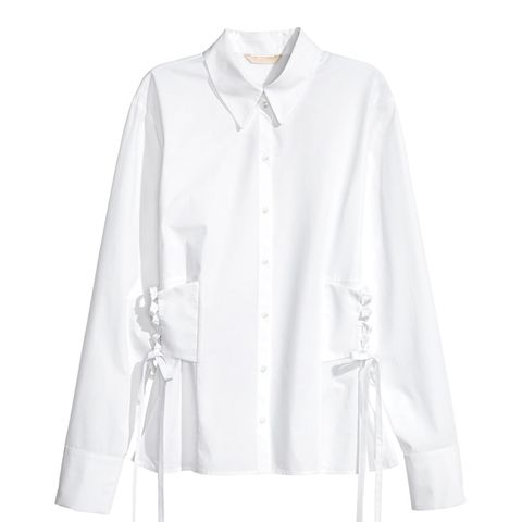 Cotton Shirt With Lacing