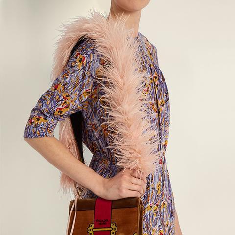 Marabou-Feather Bag Strap