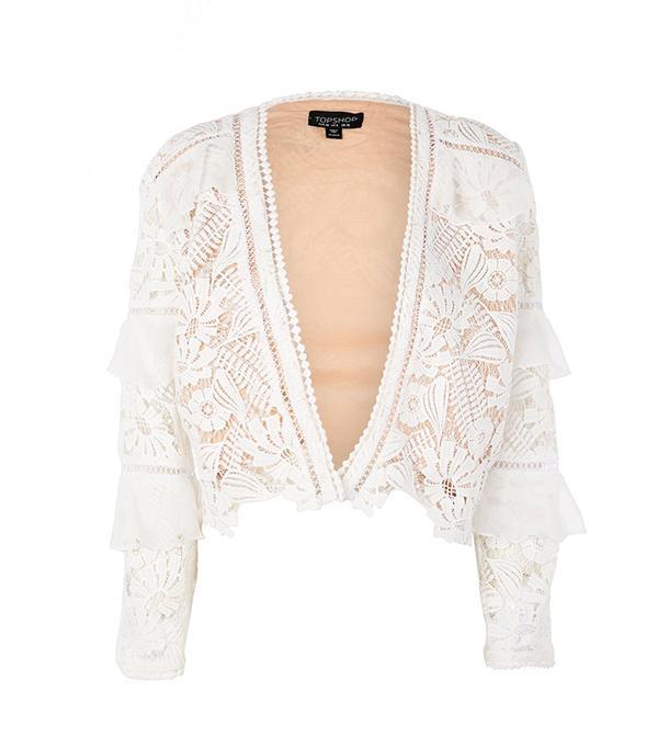 Lace Chiffon Frill Jacket