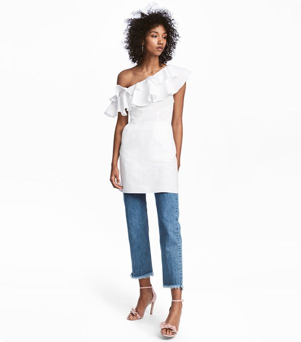 Cotton One-shoulder Dress