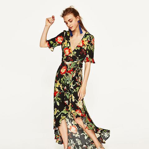 Long Floral Print Dress