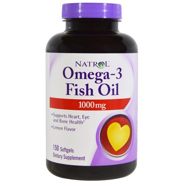 Natrol Omega-3 1000mg Fish Oil Softgels