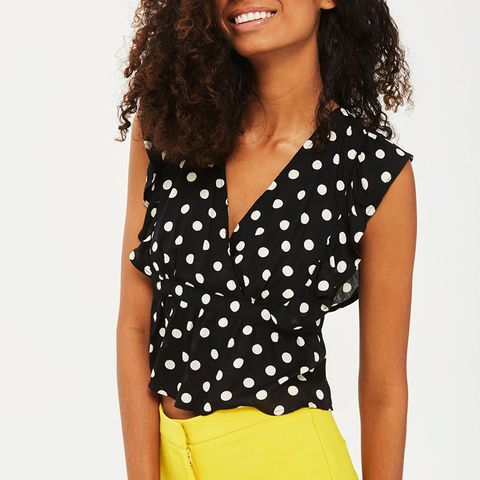 Polka Dot Ruffle Sun Top